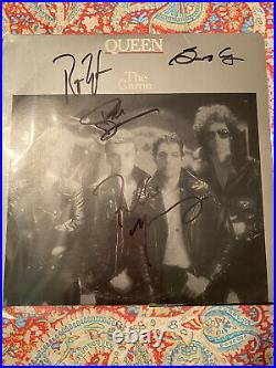 QUEEN Band Signed Vinyl Record Album With COA. Signed By all 4 Band members