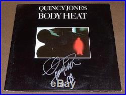 QUINCY JONES SIGNED BODY HEAT RECORD ALBUM with PROOF! LP VINYL JAZZ