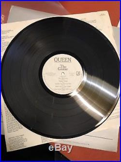Queen Autographed The Game Vinyl Album Record Freddie Mercury