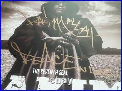 RAKIM Hip Hop Legend SIGNED + FRAMED The Seventh Seal Vinyl Record Album