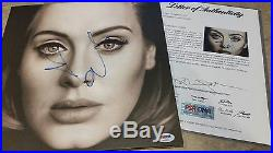 RARE Adele Signed Autographed Vinyl Album 25 PSA DNA Authenticated-LOA-Real Deal