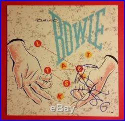 RARE DAVID BOWIE AUTOGRAPHED LET'S TALK 1983 PROMO VINYL ALBUM SIGNED With PROOF