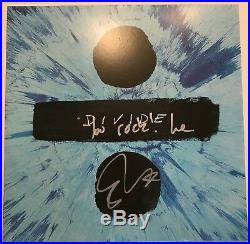 RARE- ED SHEERAN Signed You Rock! , Love DIVIDE Vinyl Album-Full JSA Letter