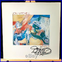 RARE Joni Mitchell Signed Mingus Vinyl Album EXACT Proof JSA COA