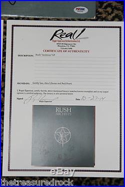 RARE Rush ARCHIVES signed autographed LP album record vinyl by 3 PSA DNA COA