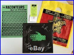 Raconteurs Signed Help Us Stranger Vinyl Album Jack White Stripes Autographed