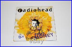 Radiohead Signed Pablo Honey Vinyl Record Album Lp Coa X5 Exact Proof Thom Yorke