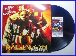 Raekwon & Ghostface Killah Signed Only Built 4 Cuban Linx PURPLE Vinyl Album JSA
