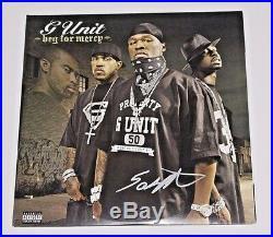 Rapper 50 Cent Signed G-unit Beg For Mercy Vinyl Album Cover Coa Curtis Jackson