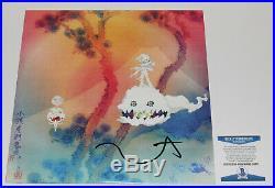 Rapper Kanye West Signed Kids See Ghosts Vinyl Album Record Lp Beckett Coa Bas