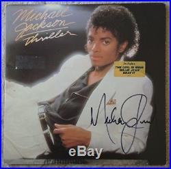 Rare Collectible Autograph Signed Michael Jackson Vinyl LP Album