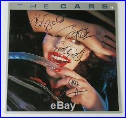Ric Ocasek THE CARS Signed Autograph The Cars S/T Album Vinyl LP by All 5 Orr
