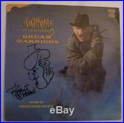 Robert Englund Autograph Signed Nightmare on Elm Street 3 12 Vinyl Album Cover
