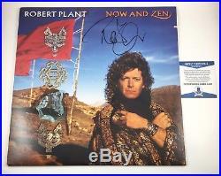 Robert Plant Led Zeppelin Signed Autographed Now And Zen Vinyl Album Beckett COA