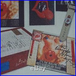 Rolling Stones Brussels Affair, Jagger signed book, Vinyl album, Litho, Watch
