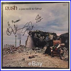 Rush Signed Vinyl Geddy Lee, Alex Lifeson & Neil Peart Autographed Album