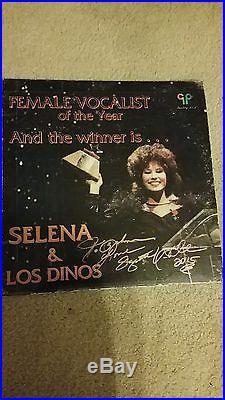 SELENA QUINTANILLA And The Winner Is. SIgned Vinyl LP album Very Rare