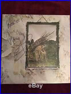 SIGNED by Jimmy Page Led Zeppelin IV Vinyl Album 1971 Good Condition
