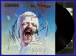 Scorpions Band Signed Blackout Album Lp Vinyl Record Album Jsa Cert