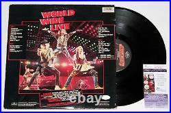 Scorpions Signed World Wide Live Lp Vinyl Record Album Band Klaus Auto +jsa Coa