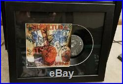 Sepultura Classic Lineup Signed & Framed Attitude 7 Vinyl Record Album Rare