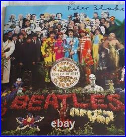 Sgt. Pepper The Beatles New Vinyl Album Signed By Artist Sir Peter Blake V. Rare