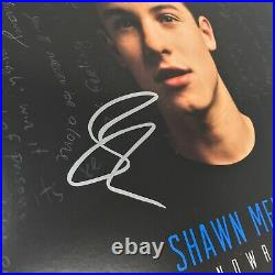 Shawn Mendes Signed Handwritten LP Debut Album withJSA COA Auto Blue Vinyl + Proof