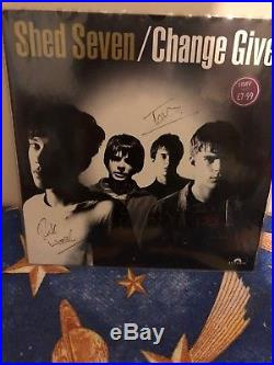 Shed Seven Change Giver Vinyl LP Signed At Album Launch