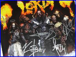 Signed Lordi Autographed Arockalypse Double Lp Album Cover Blue Vinyl All 5 Nice
