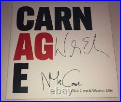 Signed Nick Cave Warren Ellis Carnage Album Vinyl Rare Authentic Proof