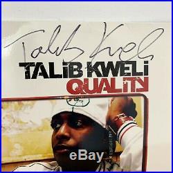 Signed TALIB KWELI Quality 2002 VINYL LP HIP HOP Rawcus Record Album AUTOGRAPHED