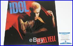 Singer Billy Idol Signed Rebel Yell Vinyl Record Album Lp Proof Beckett Coa Bas