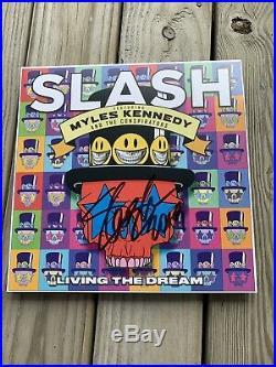Slash Signed Vinyl Record Album Living The Dream Autographed Guns N Roses Lp