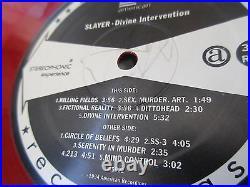 Slayer Divine Intervention US Original Red Vinyl LP in 1994 w Shrink Signed Copy