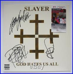 Slayer Signed Album Record 12 Vinyl Lp God Hates Us All Jsa