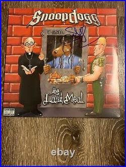Snoop Dogg Signed Autographed The Last Meal Album Vinyl Record! HOT