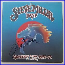 Steve Miller Signed Greatest Hits 1974-78 Vinyl Record Band Album LP Auto RAD