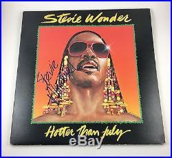 Stevie Wonder Signed Autographed Hotter Than July Vinyl Album PROOF COA