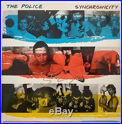 Sting Signed The Police Synchronicity Vinyl Record Album LP LEGEND RAD