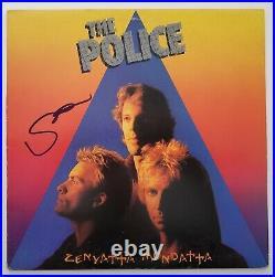 Sting Signed The Police Zenyatta Mondatta Vinyl Record Album LP LEGEND RAD