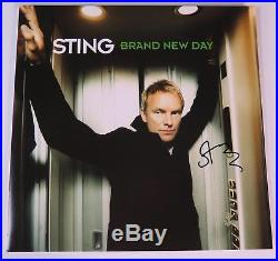 Sting THE POLICE Signed Autograph Brand New Day Album Vinyl Record LP