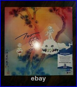 TAKASHI MURAKAMI SIGNED KIDS SEE GHOSTS ALBUM VINYL LP KANYE w COA BECKETT PROOF