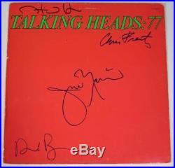 TALKING HEADS Signed Autograph Talking Heads77 Album Vinyl LP x 4 David Byrne