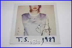 TAYLOR SWIFT SIGNED 1989 ALBUM VINYL RECORD LP withCOA REPUTATION TOUR OFFICIAL