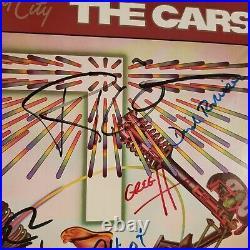 THE CARS signed lp vinyl album HEARTBEAT CITY with Ben Orr Rick Ocasek