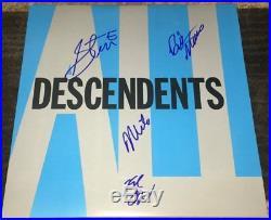 THE DESCENDENTS SIGNED AUTOGRAPH ALL VINYL ALBUM MILO AUKERMAN +3 withEXACT PROOF