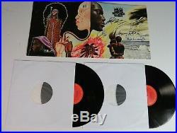 THE MILES DAVIS GROUP Signed Autograph Bitches Brew Album Vinyl Record LP by 5