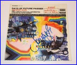 THE MOODY BLUES JOHN LODGE SIGNED DAYS OF FUTURE PASSED VINYL ALBUM LP withCOA