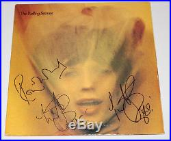 THE ROLLING STONES SIGNED VINYL ALBUM RECORD withCOA CHARLIE WATTS RONNIE WOOD