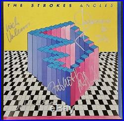 THE STROKES BAND SIGNED ANGLES VINYL RECORD ALBUM WithCOA AUTOGRAPH